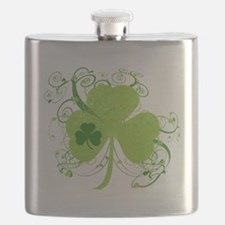St Patrick's Day Fancy Shamrock Flask