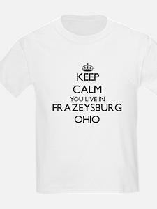Keep calm you live in Frazeysburg Ohio T-Shirt