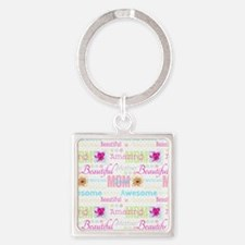Mothers Day Square Keychain