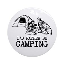 Camping Ornament (Round)