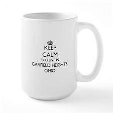 Keep calm you live in Garfield Heights Ohio Mugs