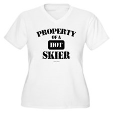 Property of a Hot Skier Plus Size T-Shirt