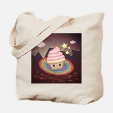 Sweet Rainbow Cupcake Tote Bag