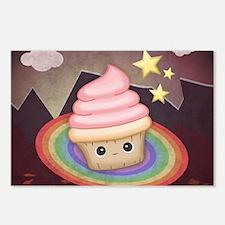 Sweet Rainbow Cupcake Postcards (Package of 8)