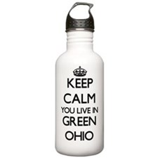 Keep calm you live in Sports Water Bottle