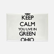 Keep calm you live in Green Ohio Magnets
