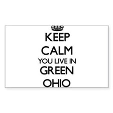 Keep calm you live in Green Ohio Decal
