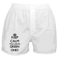 Keep calm you live in Green Ohio Boxer Shorts