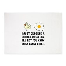 Chicken And Egg 5'x7'Area Rug