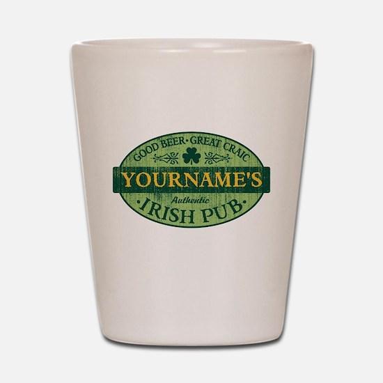 Custom Irish Pub Vintage Shot Glass