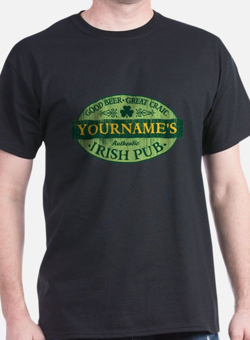 Custom Irish Pub Vintage T-Shirt