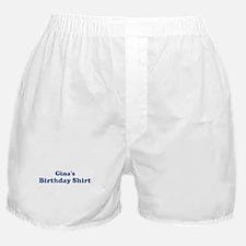 Gina birthday shirt Boxer Shorts