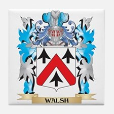 Walsh Coat of Arms - Family Crest Tile Coaster