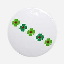 Lucky Irish Clover Ornament (Round)