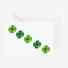 Lucky Irish Clover Greeting Cards