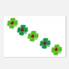 Lucky Irish Clover Postcards (Package of 8)