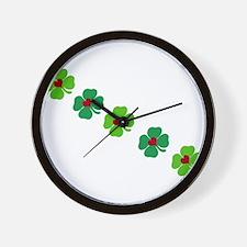 Lucky Irish Clover Wall Clock