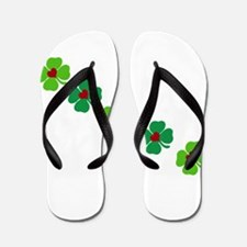 Lucky Irish Clover Flip Flops