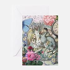 Alice in Wonderland Dodo Vintage Pretty Collage Gr