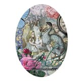 Alice in wonderland Oval Ornaments