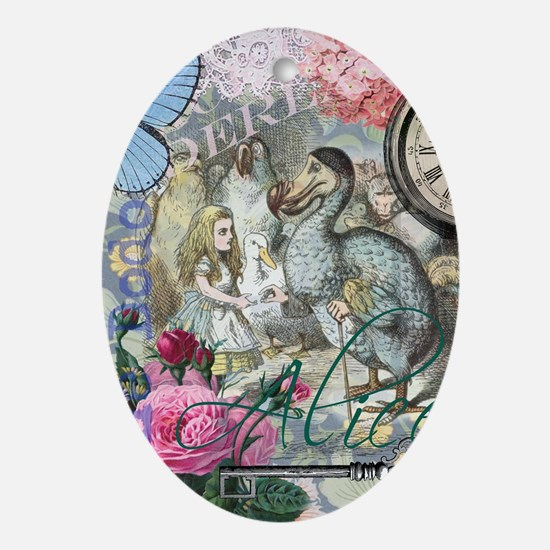 Alice in Wonderland Dodo Vintage Pretty Collage Or