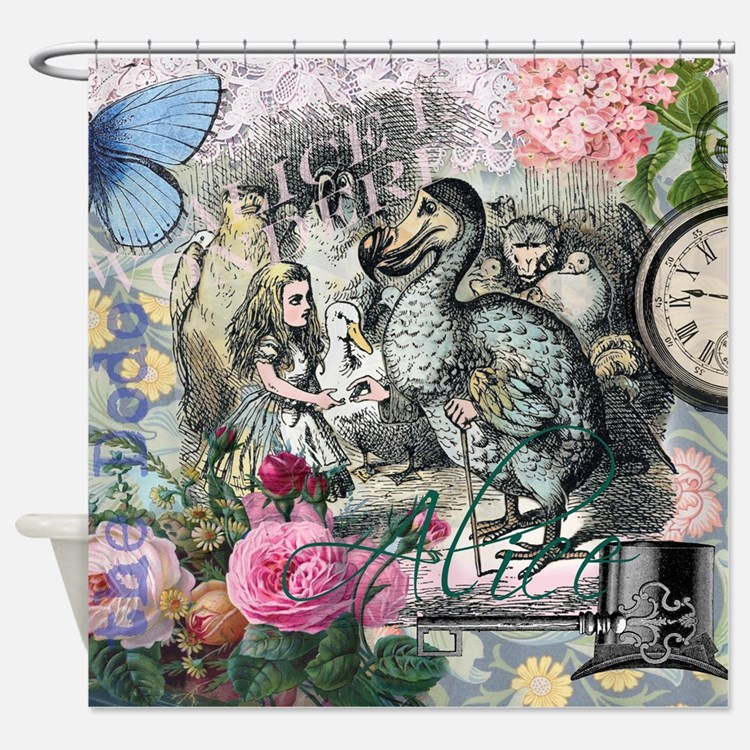Alice in Wonderland Dodo Vintage Pretty Collage Sh