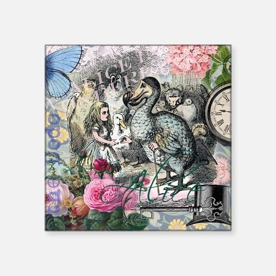Alice in Wonderland Dodo Vintage Pretty Collage St