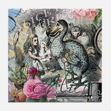 Alice in Wonderland Dodo Vintage Pretty Collage Ti