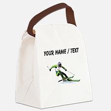 Custom Slalom Racer Canvas Lunch Bag