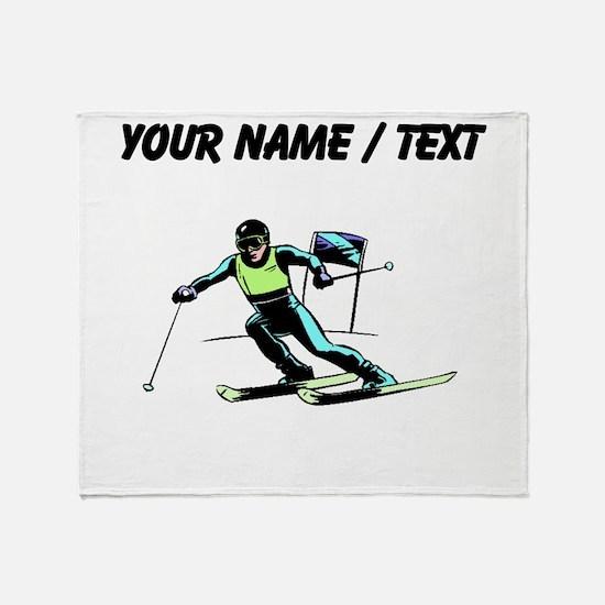 Custom Slalom Racer Throw Blanket
