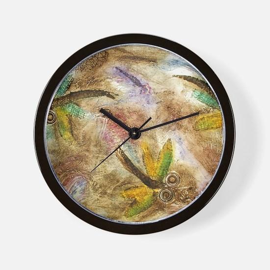 Dragonfly Lollipop Wall Clock