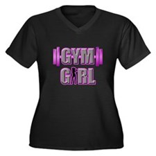 Gym Girl Design 3 Plus Size T-Shirt