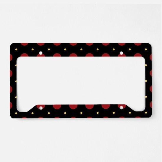 Dots-2-44 License Plate Holder