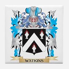 Watkins Coat of Arms - Family Crest Tile Coaster