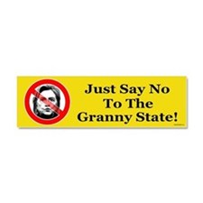 Just Say No Granny State Car Magnet 10 x 3
