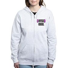 Gym Girl Design 2 Zipped Hoody