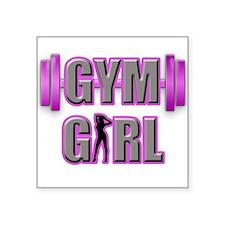 Gym Girl Design 3 Sticker