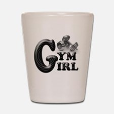 Gym Girl Design Shot Glass