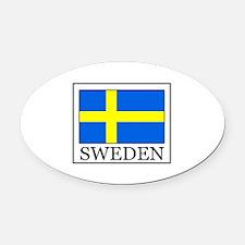 Sweden Oval Car Magnet
