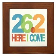 26.2 - Here I come Framed Tile
