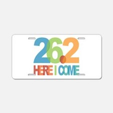 26.2 - Here I come Aluminum License Plate