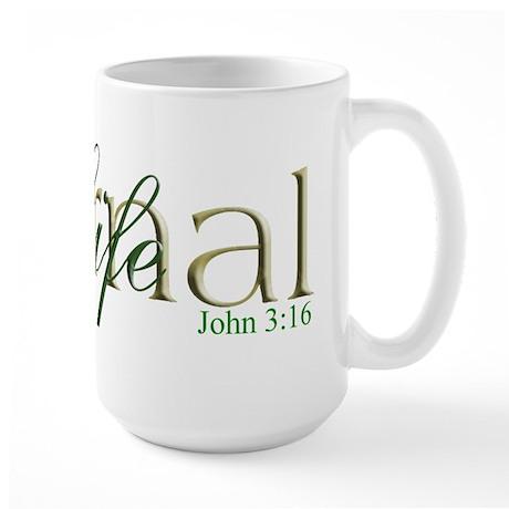 Khaki Eternal Life Large Mug