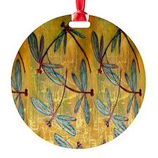 Dragonfly Golden Haze Ornament
