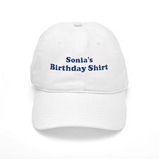 Sonia birthday shirt Baseball Cap