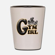 Gym Girl Design 1a Shot Glass