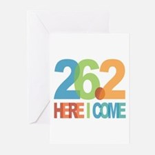 26.2 - Here I come Greeting Cards