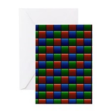 Happy Squares Greeting Card