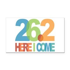 26.2 - Here I come Rectangle Car Magnet