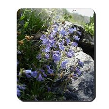 Purple Wild Flowers Mousepad | Mouse Pad