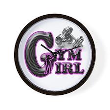 Gym Girl Design 1c Wall Clock